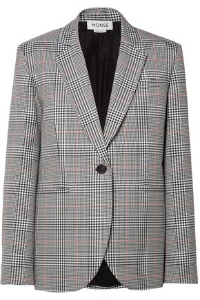MONSE Embellished Prince of Wales woven blazer