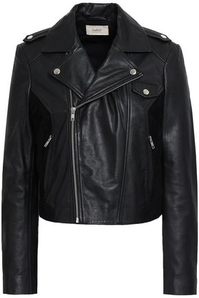 BA&SH Leather and suede biker jacket