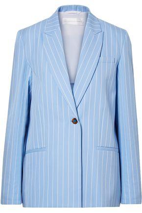 VICTORIA, VICTORIA BECKHAM Striped cotton-twill blazer