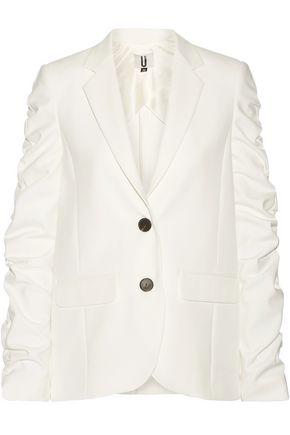 TOPSHOP UNIQUE Ruched cady blazer