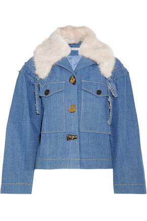 REJINA PYO Daphne faux fur-trimmed denim jacket
