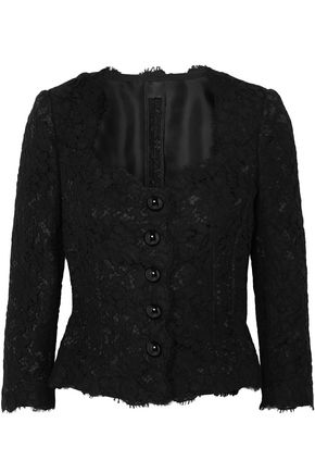 DOLCE & GABBANA Cotton-blend corded lace blouse