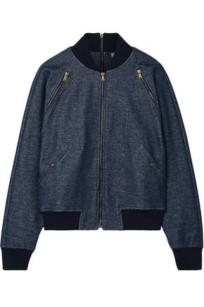 TOMAS MAIER Zip-detailed stretch-cotton bomber jacket