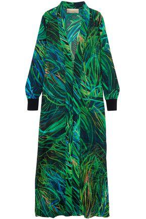 ELIE SAAB Printed silk-blend georgette jacket