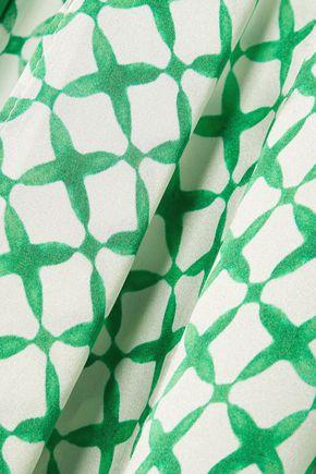 WE ARE LEONE Printed silk-satin jacket
