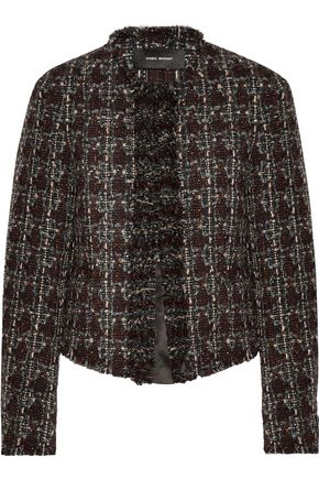 ISABEL MARANT Fania cropped wool-blend bouclé-tweed jacket