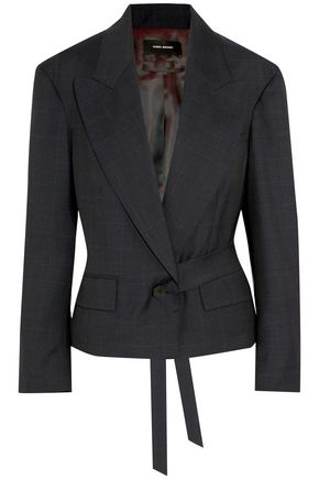 ISABEL MARANT Miller belted Prince of Wales checked wool blazer