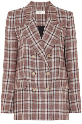 ISABEL MARANT ÉTOILE Janey double-breasted checked linen blazer