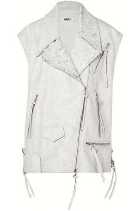 MM6 MAISON MARGIELA Cracked-leather biker vest
