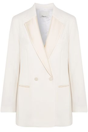3.1 PHILLIP LIM Double-breasted satin-trimmed crepe blazer