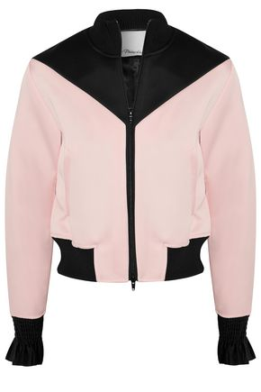 3.1 PHILLIP LIM Two-toned satin-trimmed crepe jacket