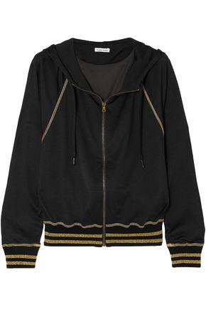 TOMAS MAIER Campus metallic jersey hooded top