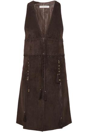 CHLOÉ Embellished tasseled suede vest
