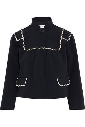REDValentino Scalloped crepe jacket