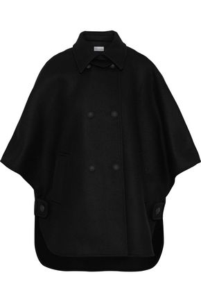 REDValentino Double-breasted wool-blend felt cape