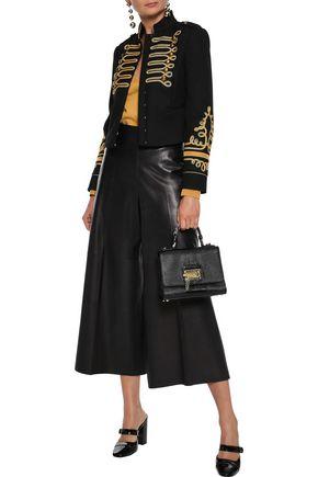 REDValentino Cropped embellished twill jacket