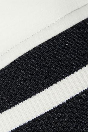 REDValentino Two-tone cotton-neoprene bomber jacket
