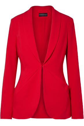 BRANDON MAXWELL Layered stretch-crepe blazer