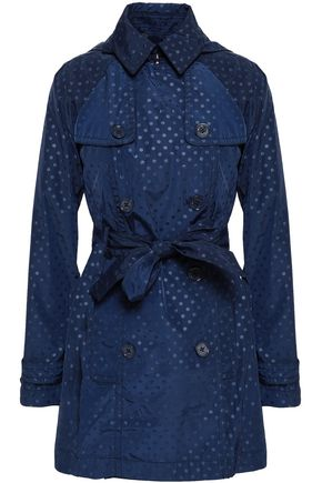 MICHAEL MICHAEL KORS Double-breasted polka-dot shell hooded trench coat