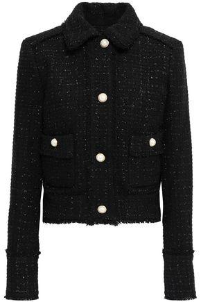 MICHAEL MICHAEL KORS Metallic wool-blend tweed jacket