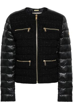 MICHAEL MICHAEL KORS Quilted shell-paneled tweed jacket