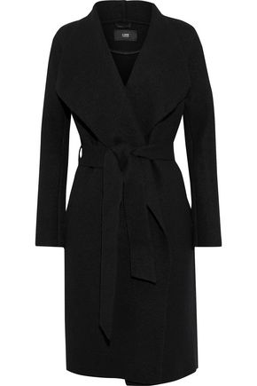 LINE Meghan brushed cotton and wool-blend coat