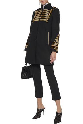 REDValentino Embellished wool-blend felt coat