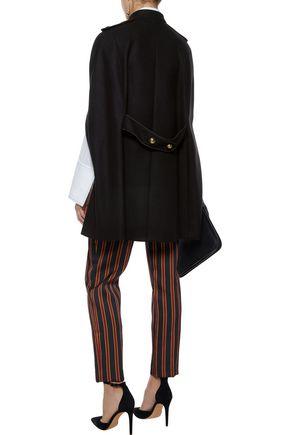 REDValentino Appliquéd wool-blend felt cape