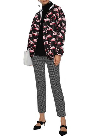 REDValentino Printed faille hooded jacket