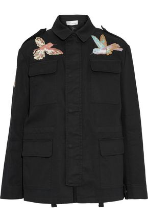 REDValentino Emboidered cotton-twill jacket