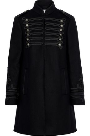 REDValentino Embellished wool-blend felt coat