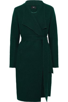 LINE Brushed cotton and wool-blend coat