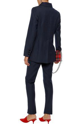 ALEXACHUNG Pinstriped wool blazer