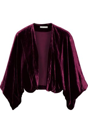 ALICE + OLIVIA Donnie cropped velvet jacket