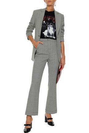 ALEXACHUNG Houndstooth wool-blend blazer
