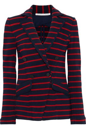 VERONICA BEARD Fontana striped cady blazer