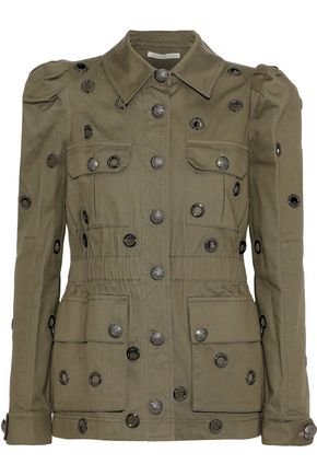 VERONICA BEARD Lewis eyelet-embellished cotton-twill jacket