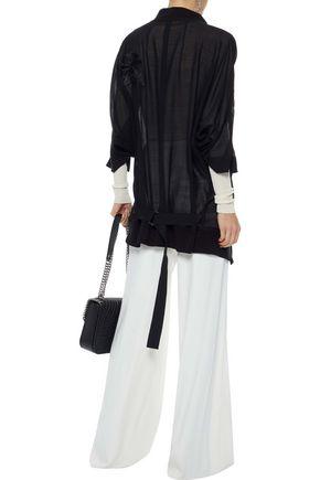 ANN DEMEULEMEESTER Milana wool-blend gauze jacket