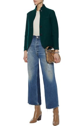 LINE Benjamin cotton and wool-blend felt jacket