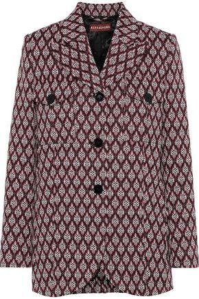 ALEXACHUNG Jacquard-knit jacket