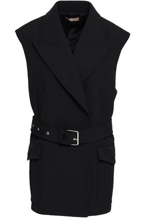 MICHAEL KORS COLLECTION Belted wool and cotton-blend vest