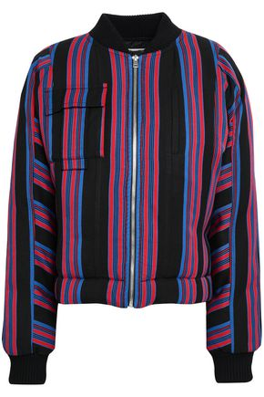 DIANE VON FURSTENBERG Striped twill bomber jacket