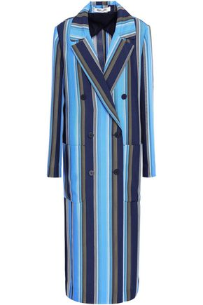 DIANE VON FURSTENBERG Belted striped silk trench coat