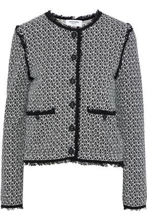 THOM BROWNE Button-detailed cotton-jacquard jacket