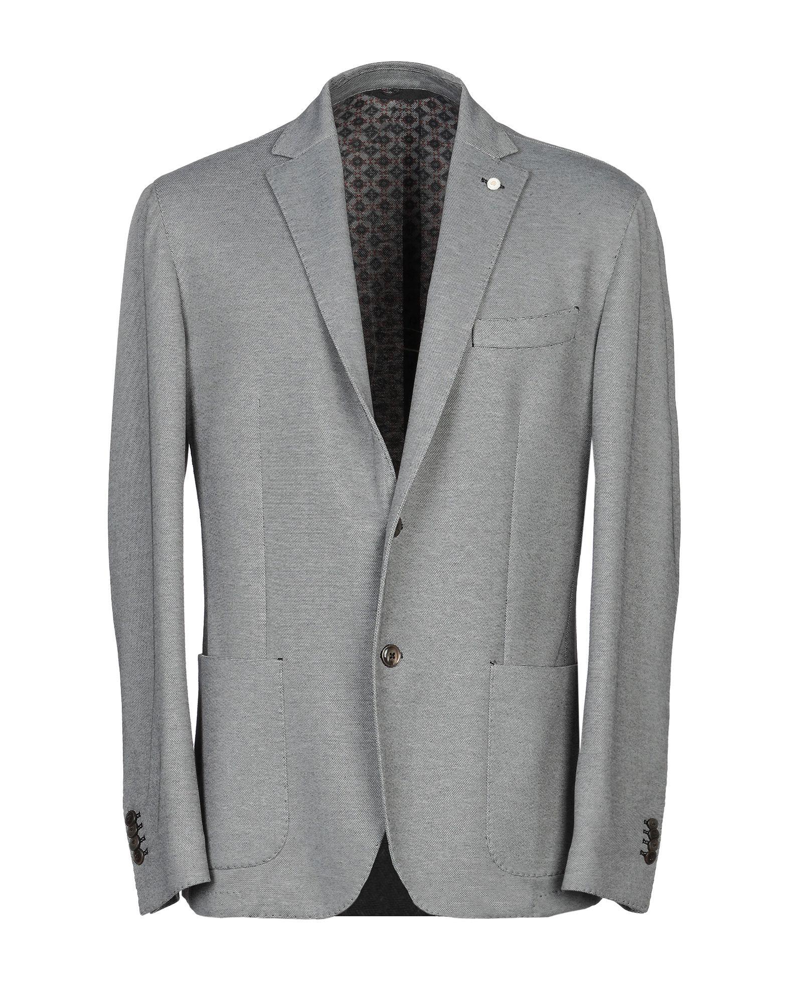 《期間限定セール中》LUIGI BIANCHI ROUGH メンズ テーラードジャケット ライトグレー 54 コットン 60% / ポリエステル 40%