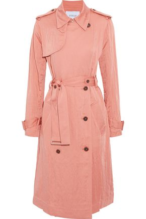 DEREK LAM 10 CROSBY Double-breasted gabardine trench coat