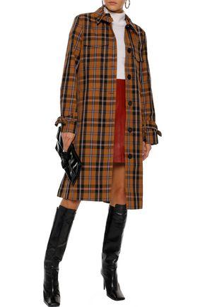 DEREK LAM 10 CROSBY Checked twill coat