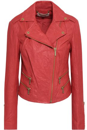 MICHAEL MICHAEL KORS Crushed-leather biker jacket