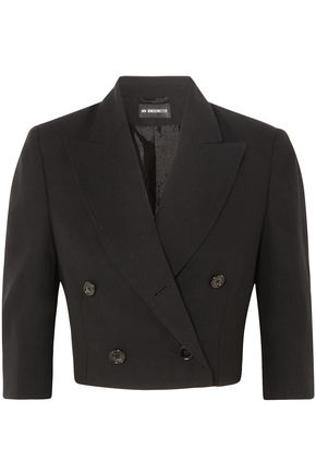 ANN DEMEULEMEESTER Cropped double-breasted wool blazer