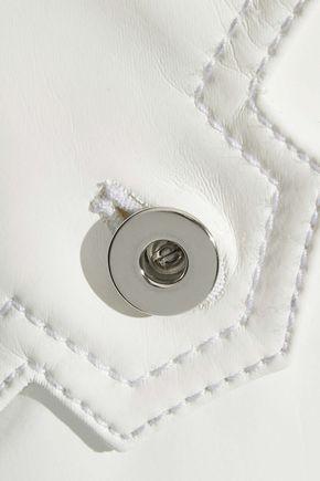 ELLERY Spector vinyl-paneled denim jacket